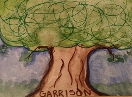 Garrison Family Tree: Sharpie and watercolor picture