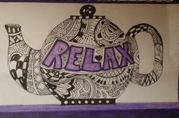 Sharpie doodle - zentangle teapot