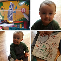 Crayola Supertips: Baby coloring collage
